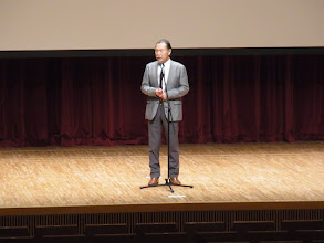 Photo: 山崎会長のスピーチ
