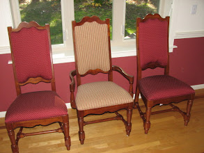 Photo: There are two Arm Chairs and six Side Chairs