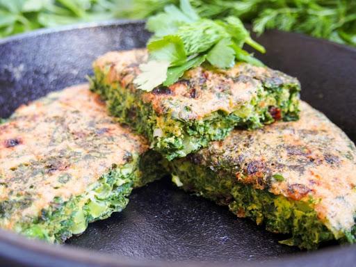 Kuku sabzi - Persian herb frittata #SundaySupper