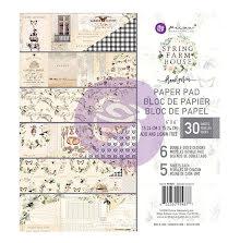 Prima Double-Sided Paper Pad 6X6 30/Pkg - Spring Farmhouse UTGÅENDE