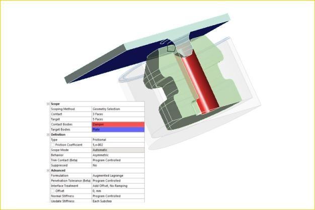 ANSYS - Автоматическое определение контактных пар в модели