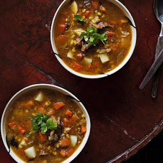 Hearty Lamb Shank Soup.