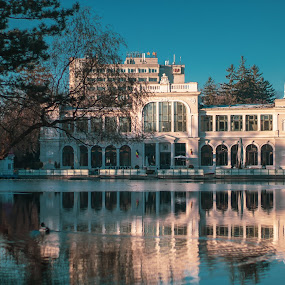 Chios by Paul Voie - Buildings & Architecture Public & Historical ( sunny day, motion, duck, restaurant, ice, lake, trees, landscape, canon )