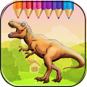Dinosaurs World Coloring Book