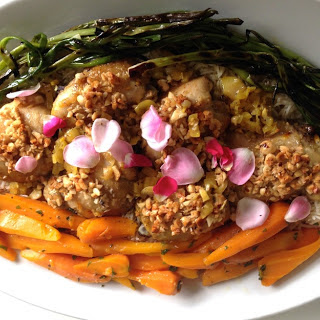 Ottolenghi's Chicken with Hazelnuts and Saffron.