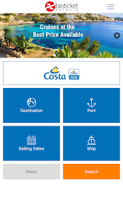 Ticketcosta - Specialists in Costa Cruises- screenshot thumbnail