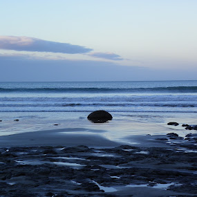 by Kim Pauly - Novices Only Landscapes ( blue, ocean, beach, ocean view, rocks, new zealand )