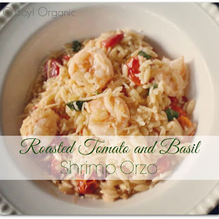Roasted Tomato and Basil Shrimp Orzo