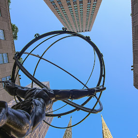 The Atlas at the Rock by Angel Escalante - Buildings & Architecture Statues & Monuments