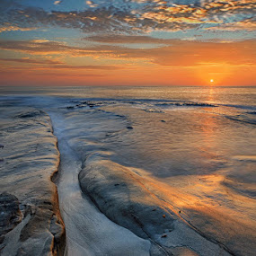 La Jolla Impressions III by Michael Otter - Landscapes Sunsets & Sunrises