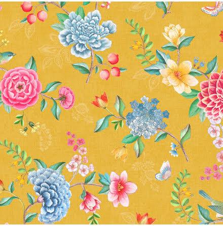 Pip 2020 Good Evening Tapet med blommor - Gul
