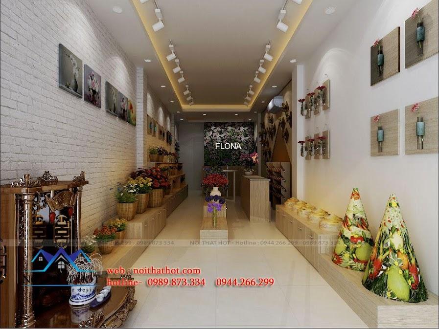 thiết kế cửa hàng hoa tươi cưới hỏi