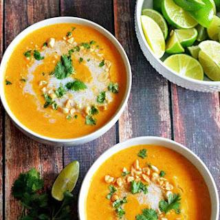 Thai Coconut Curry Butternut Squash Soup.