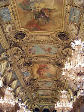 Photo: The ornate ceiling of the Banquet Hall.