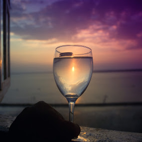 From the Glass by Saiful N. Firmansyah - Landscapes Sunsets & Sunrises ( sunset, lighthouse, glass, cloud, landscape )