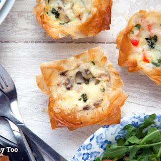 Filo Pastry Mini Quiches.