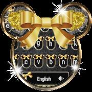 Golden Shine Bow minny Keyboard