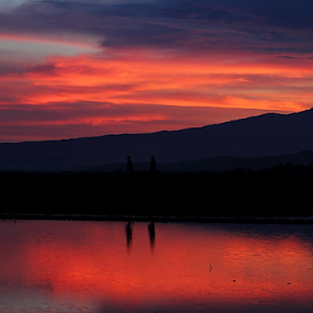 The colour of sky reflect around the mt by Deny Afrian Wahyudi - Landscapes Mountains & Hills