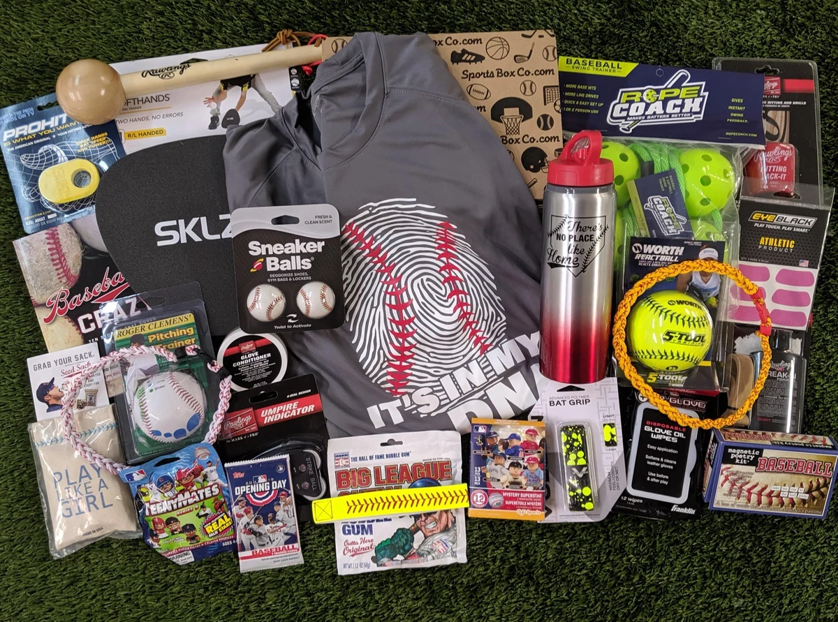baseball mother's day gift idea - sports box with pre-selected goodies