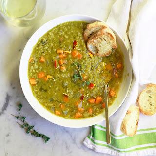 Slow Cooker Vegetarian Split Pea Soup Recipes