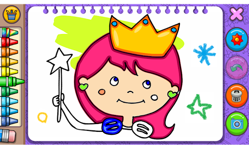 Princess Coloring Book & Games modavailable screenshots 1