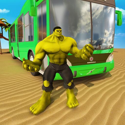 SuperHero Bus Stunt City Racing