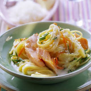Salmon and Chive Linguine.