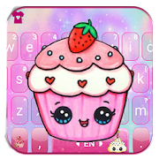 Kawaii Cute Cup Cake Keyboard Theme APK for Bluestacks
