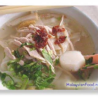 [ Flat Rice Noodles in Soup ].