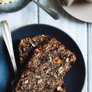 Cinnamon Raisin Seed and Nut Bread (Gluten-free & Vegan).