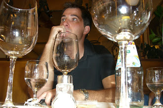 "Photo: I call this, ""Chris Under Glass"".... Lunch in Venice"