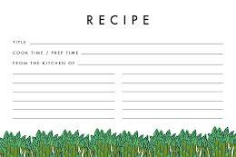 Asparagus Border - Recipe Card item