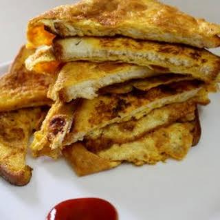 Bread Omelette Recipe, Bread Omelet Sandwich.