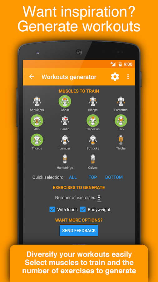 Workout Tracker & Gym Trainer- screenshot