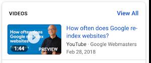 Ejemplo de resultado de búsqueda de vídeos en móviles