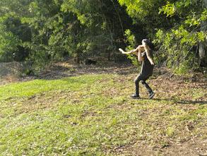Photo: Noosa...Mykee chasing a turkey