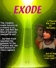 "Photo: This was my attempt to make a book cover for the science fiction story ""Exode"", pretending that it was a fantasy story."
