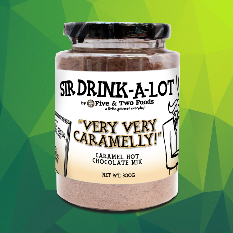 Sir Drink-a-Lot's 'Very Very Caramelly' Hot Chocolate Mix by Five & Two Fine Foods