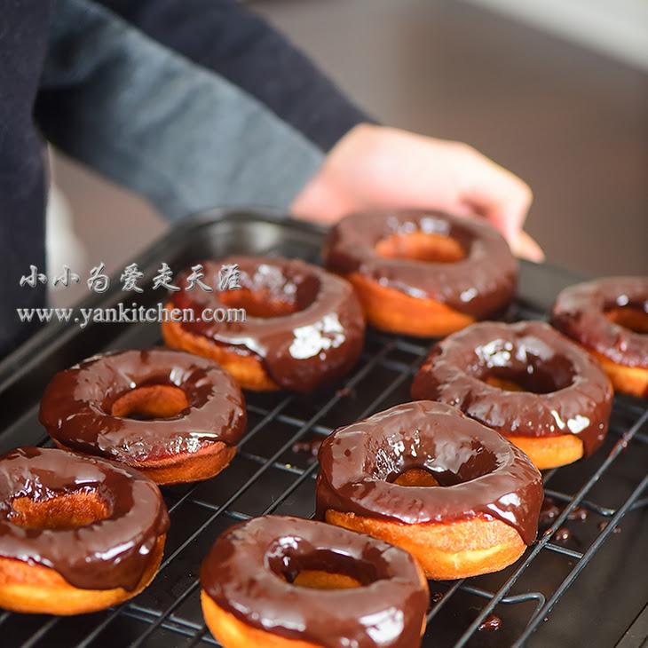 Chocolate Ganache Glazed Donuts