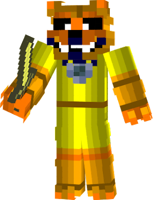 She is Golden Freddy's girlfriend, Golden Foxy is the golden version of Funtime Foxy, she also jumpscares the player, restarting the game, in the Minigames, Golden Foxy is the tenth dreamcatcher to destroy Adagio Dazzle's nightmares of Nightmare Foxy, she is voiced by Mayim Bialik.