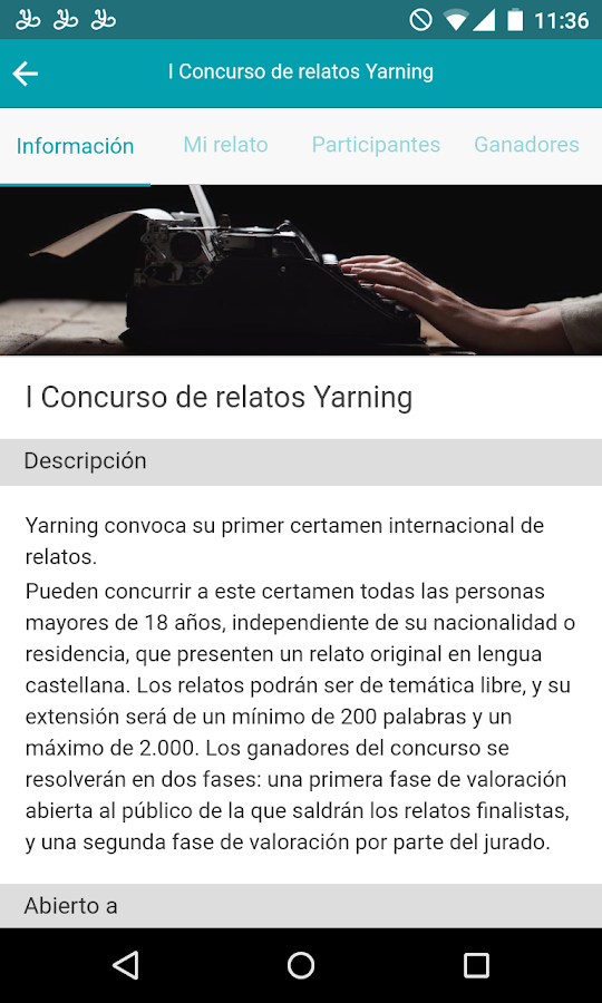 Yarning relatos- screenshot
