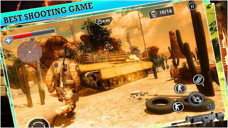 Desert Sniper Shooting - best shooting game screenshot