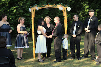 Photo: Wedding Ceremony Officiant Minister - Married at Home -  SC, GA , NC - http://WeddingWoman.net