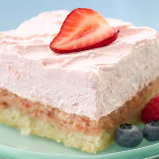 Easy Strawberry Cream Dessert Squares.