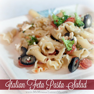 Pasta Salad With Feta Cheese And Italian Dressing Recipes.