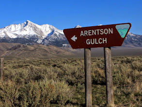 Photo: This is the turnoff for Dickey Peak, with Borah in the background.