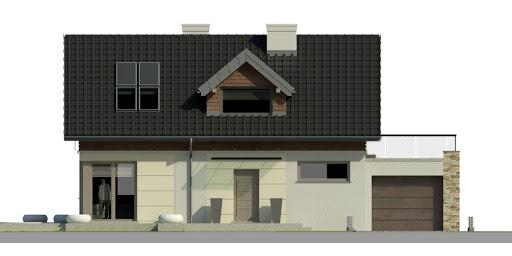 Dom przy Alabastrowej - Elewacja przednia