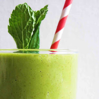 The Healthy Vegan Shamrock Shake( A Green Monster's Version)