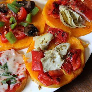 Easy Paleo Pizza Crust - Butternut Squash Mini Pizzas!