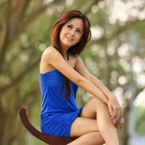 Beauty of Blue by Arrahman Asri - People Fashion ( fashion, woman, beauty, people )